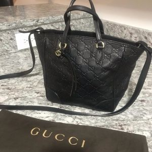 GUCCI 100% Authentic Guccissina Small Leather Tote